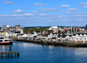 Southampton, England, the site from which the historic Titanic set sail for her maiden, and only, voyage.