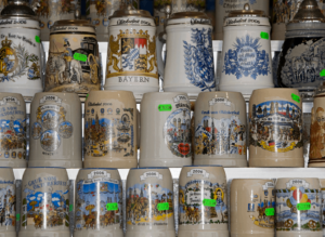 The weekend flea market at the Bode Museum is a great place to look for authentic beer steins.