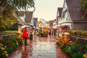 The cozy, country charm of Bicester Village Outlet Shopping Centre.