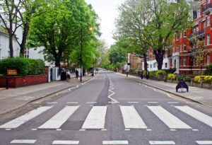 Abbey Road, the famous London shooting location of the album cover for the 1969 Beatles record of the same name.