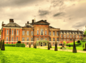Kensington Palace, a famous London landmark and residence of the Duke and Duchess of Cambridge.