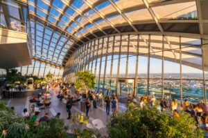 SkyGarden is one of the most famous London landmarks and is known for being the highest public garden in the city.