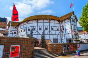 Shakespeare's famous Globe Theatre, which was first reopened in London in 1997.