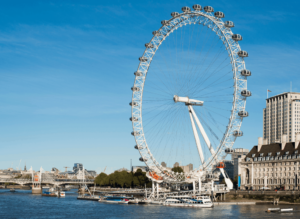 The London Eye, a giant Ferris wheel that is without a doubt, one of the most famous London landmarks of them all.