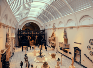 One of the more than 140 galleries that you'll find inside the famed, Victoria and Albert Museum.