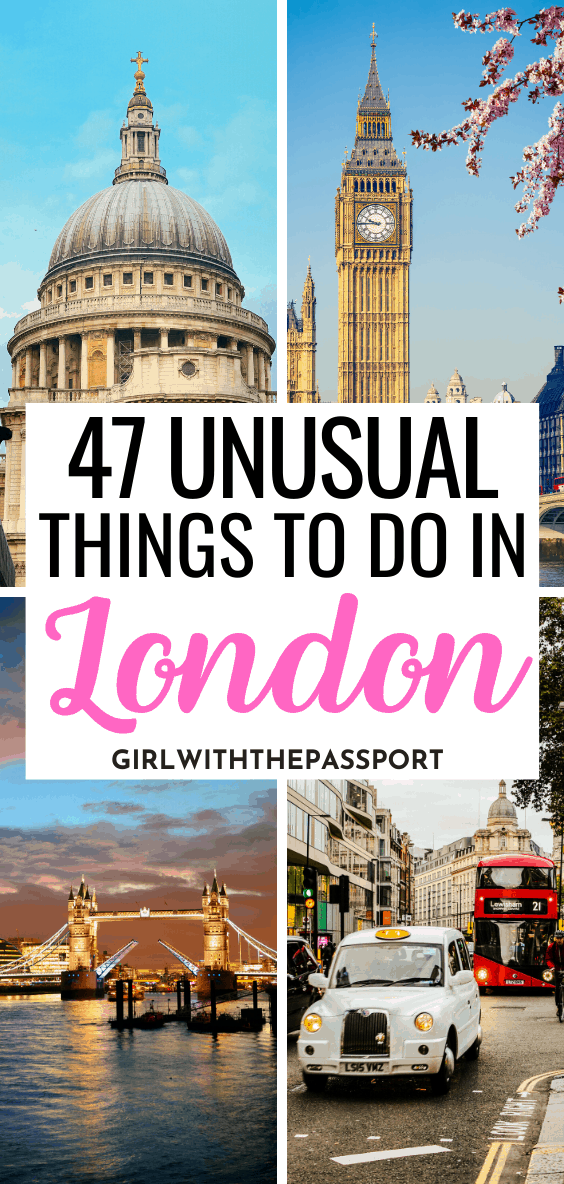 Want to visit London like a local but have no idea where to go or what to see in London? Then check out this London guide, written by a frequent London Traveler, which will help you get off the beaten path and plan a unique trip to London with 15 unusual things to do in London that everyone will love! Things you can easily add to your London itinerary to help you plan the perfect, London trip. #London #LondonTravel #ExploreLondon #VisitLondon #LondonTrip