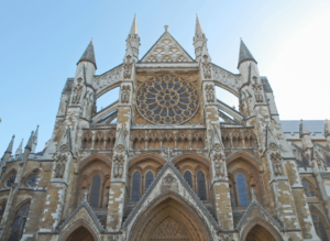 The beautiful exterior of London's famed, Westminster Abbey.