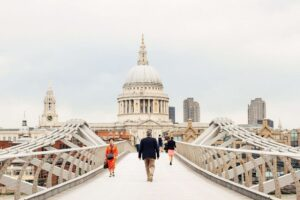 Millennium Bridge, a pedestrian footbridge that spans the length of the Thames and is now one of the most famous London landmarks of them all.