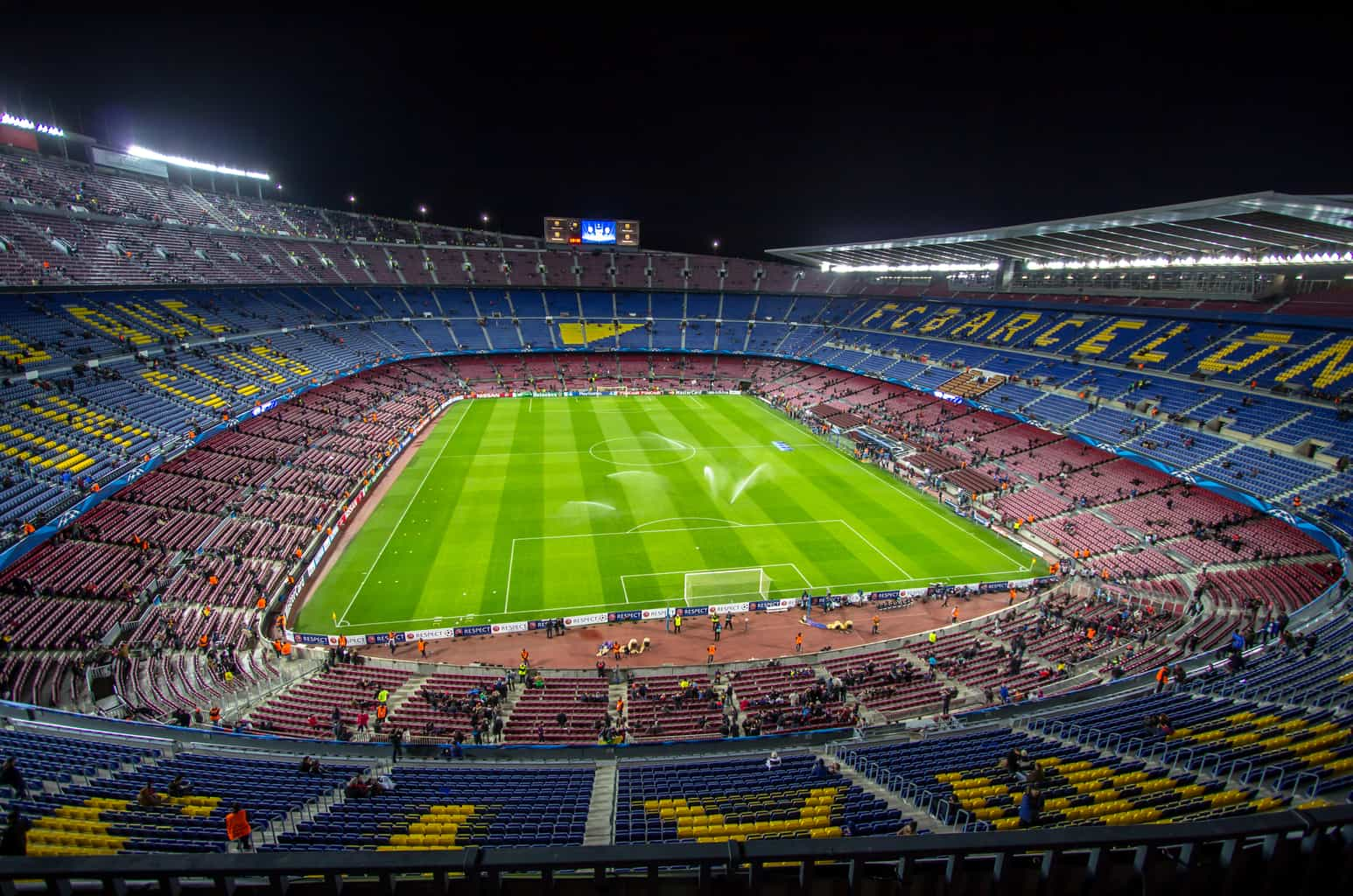Camp Nou, Barcelona's impressive and expansive football stadium.