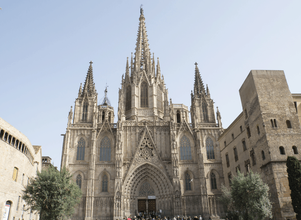 Visit the famous, Gothic Revival style Barcelona Cathedral during an alternative walking tour of Barcelona.