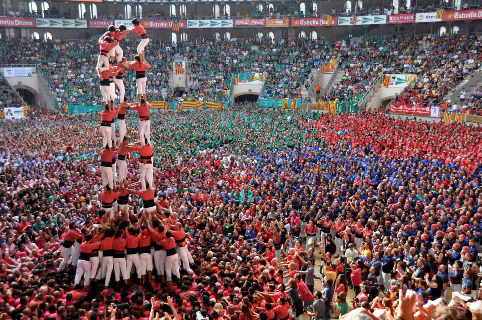 If you're in Barcelona over the summer, you'll see these Castellers, or human towers, pop on during the weekends.