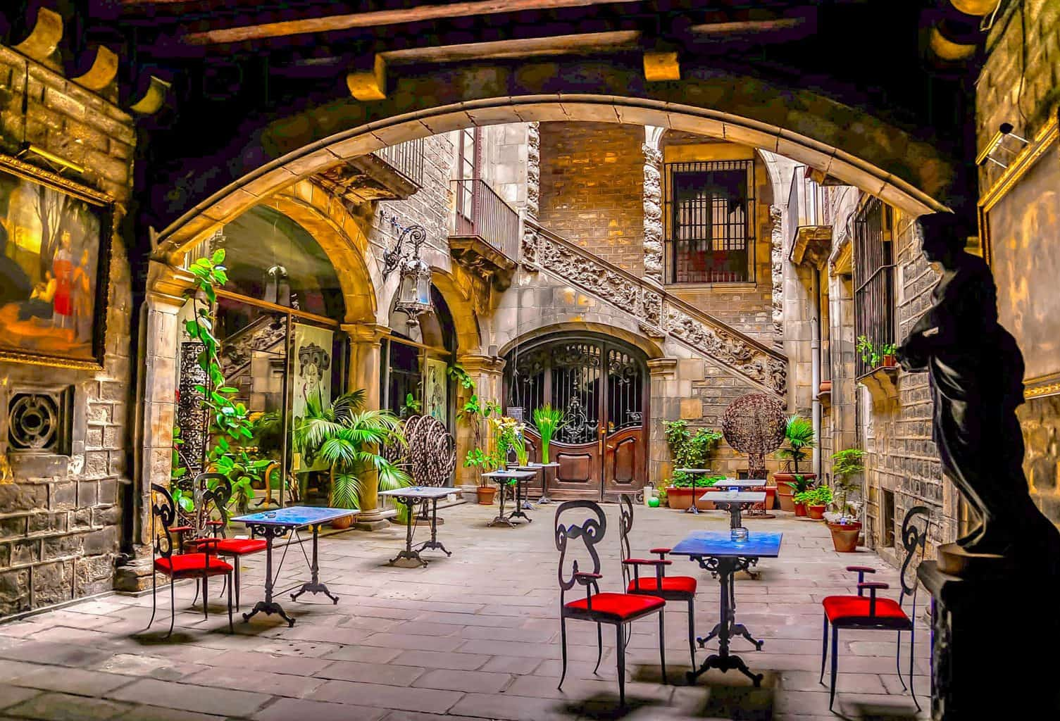 The charming, Baroque courtyard of Barcelona's Palau Dalmases (image sourced from Flickr.com)
