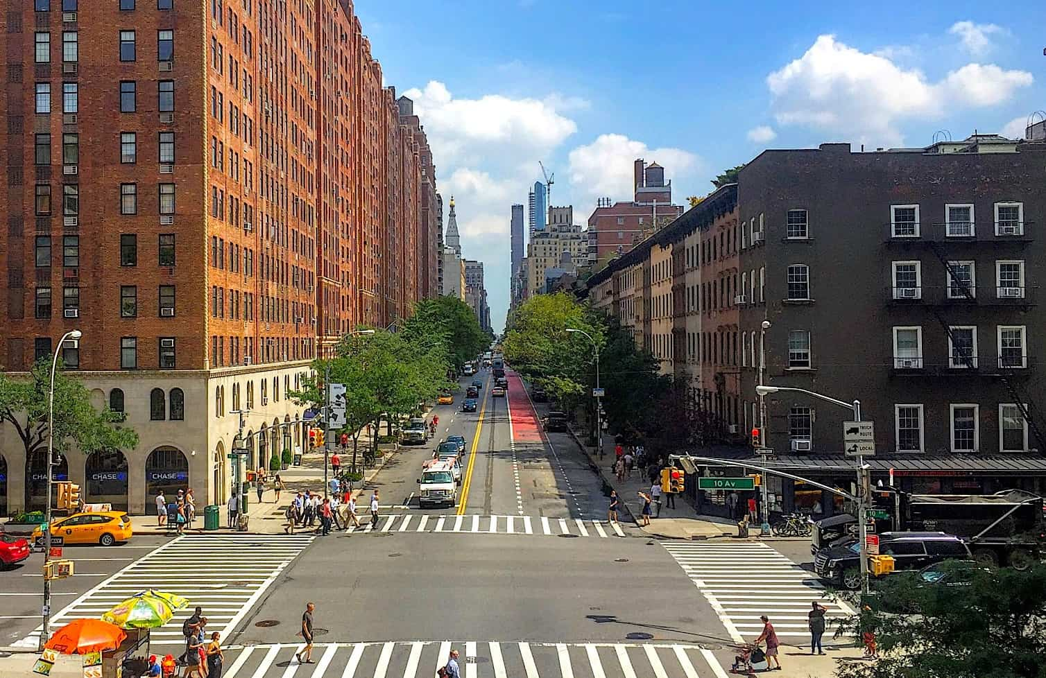 Head to New York City's famous Highline for some of the best views in NYC.