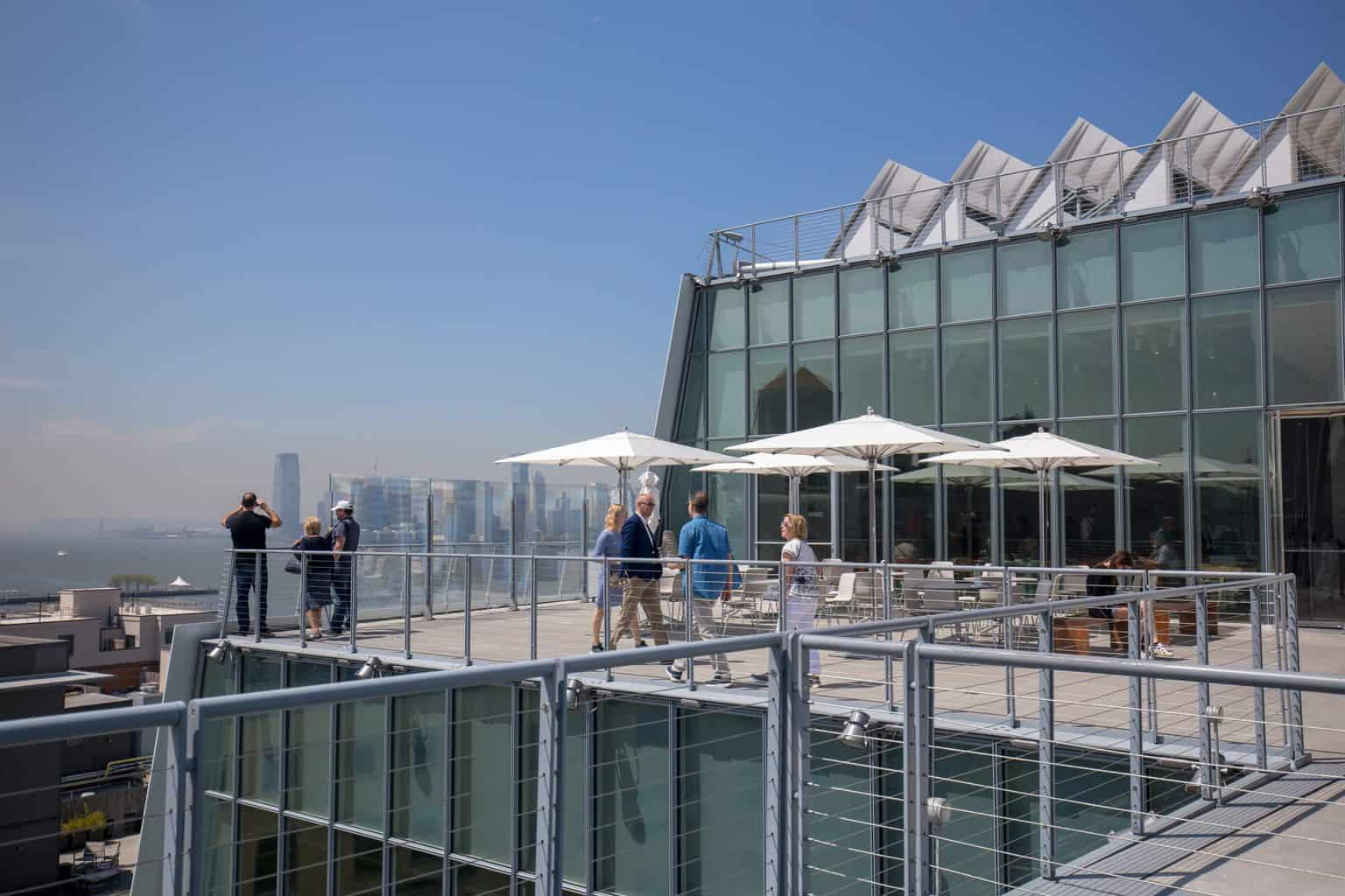 Enjoy sweeping views for days from atop the Whitney Museum.