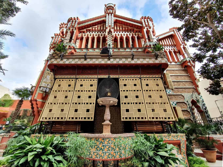 The beautiful rear facade of La Casa Vicens in Barcelona.