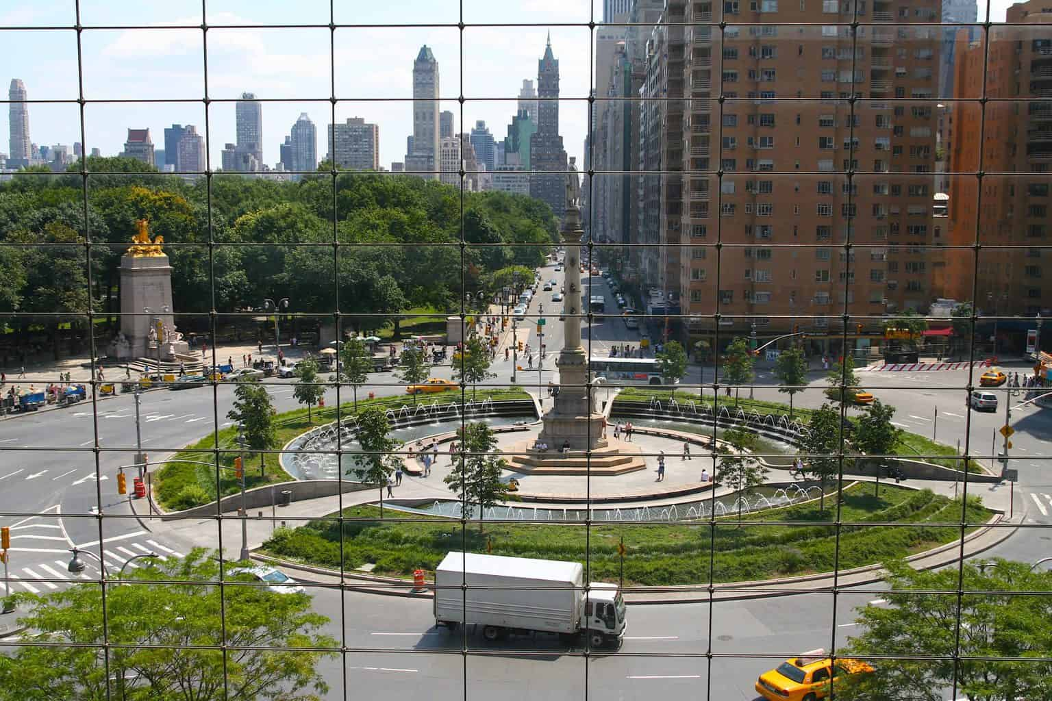 A stunning view of Columbus Circle from the 4th floor of the Time Warner Center.