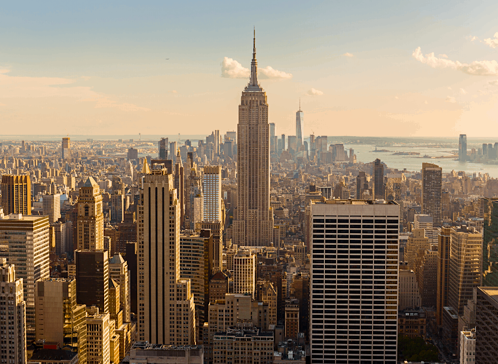 For some of the best views of the Empire State Building, head to the Top of the Rock in Rockefeller Center.