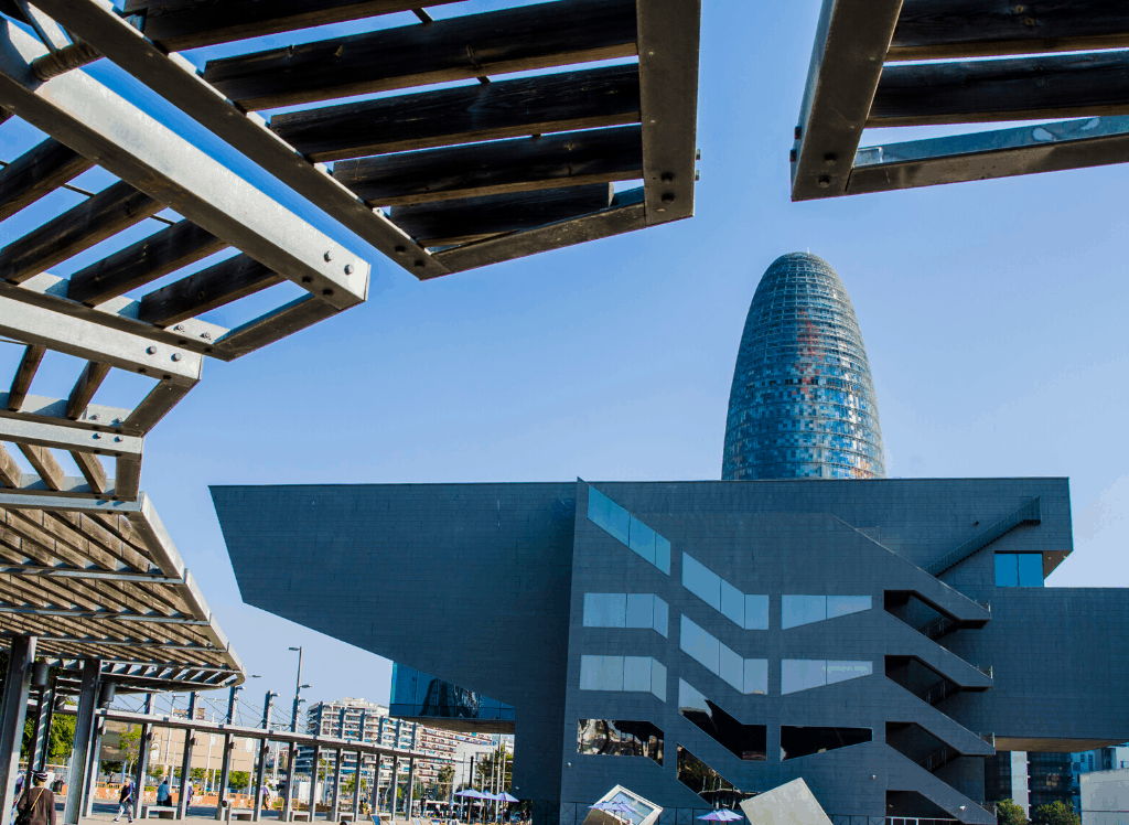 A view of the cone-shaped, Torre Agbar, one of the many hidden gems in Barcelona.