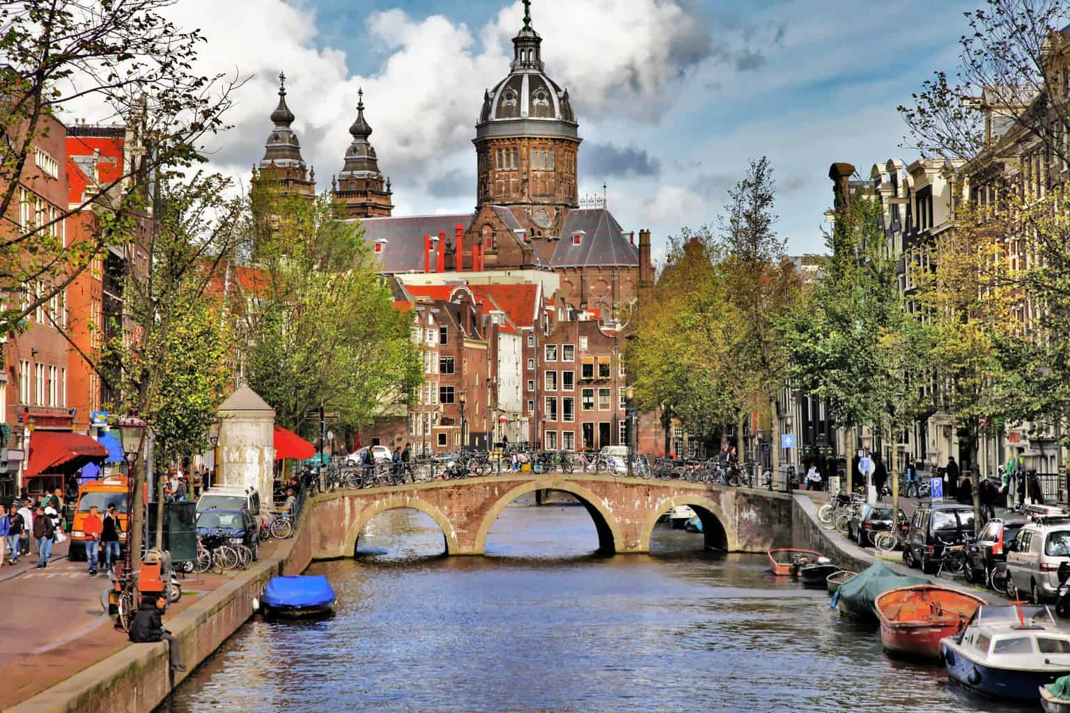 The picturesque beauty of Amsterdam's iconic canals.