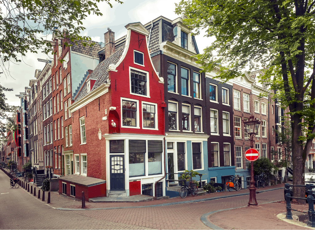 Enjoy the architectural charm and beauty of the houses and shops that line many of Amsterdam's streets, including Nieuwe Spiegelstraat.