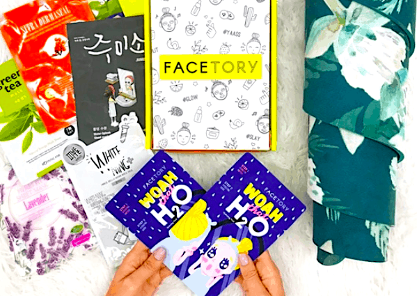 Some of the Korean face masks and beauty products you'll receive inside your Facetory box, making this one of the best travel subscription boxes out there.