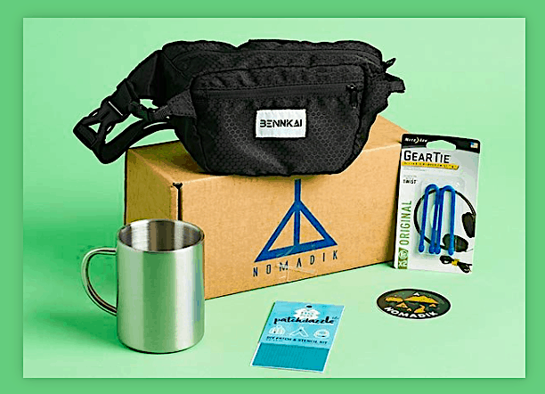 A sample of the amazing gear you'll receive from Nomaik every month.