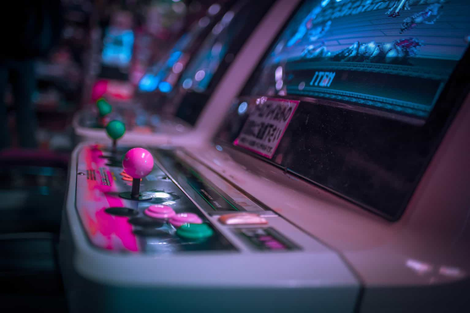 Some of the amazing Japanese and American, vintage arcade games that you'll find in Amsterdam's TonTon Club.