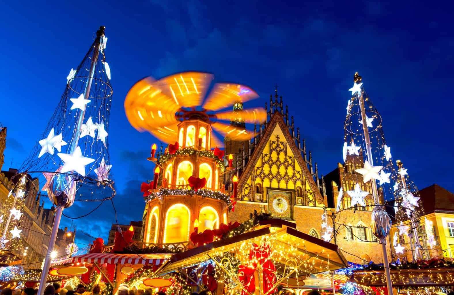 Some of the amazing Christmas decorations you'll find in Wroclaw, Poland.
