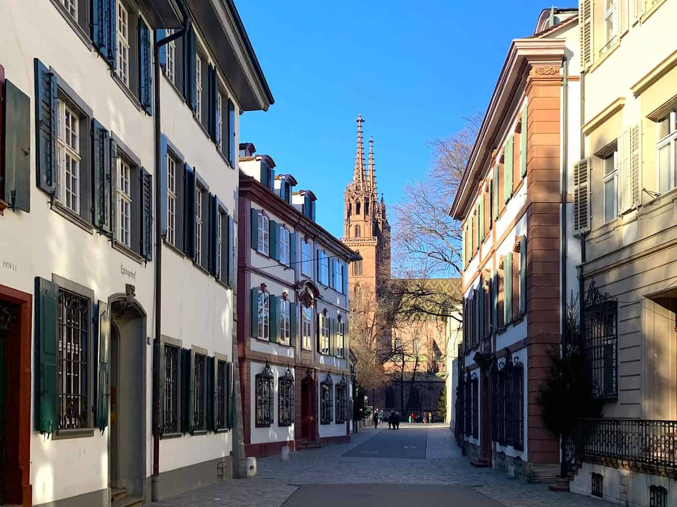 The picturesque streets of Basel, Switzerland.
