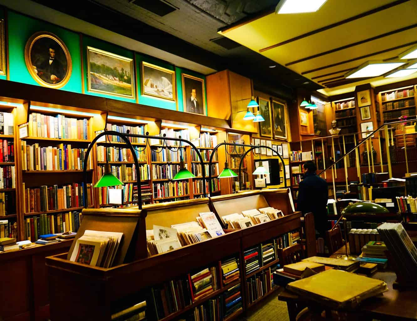 The charming, library-like interior of Argosy Bookstore in Manhattan. Image sourced from Andrew Wertheimer of Flickr.com.