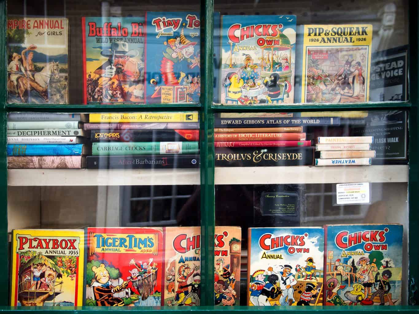 Explore the amazing collection of comic books you'll find at Manhattan's Mysterious Time Machine.