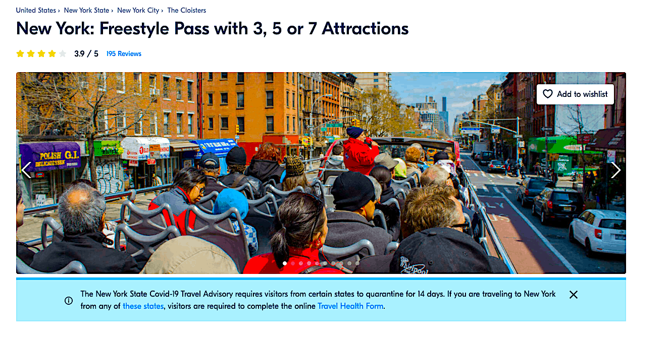 The Freestyle Pass is yet another great alternative to the New York Pass.