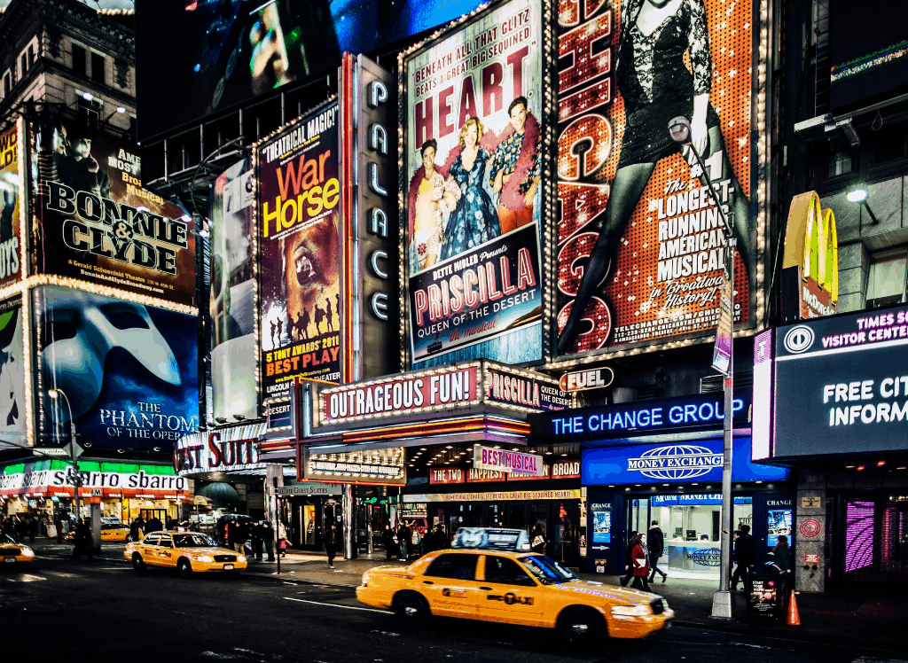 One of the most romantic things to do in NYC is to see a Broadway show.
