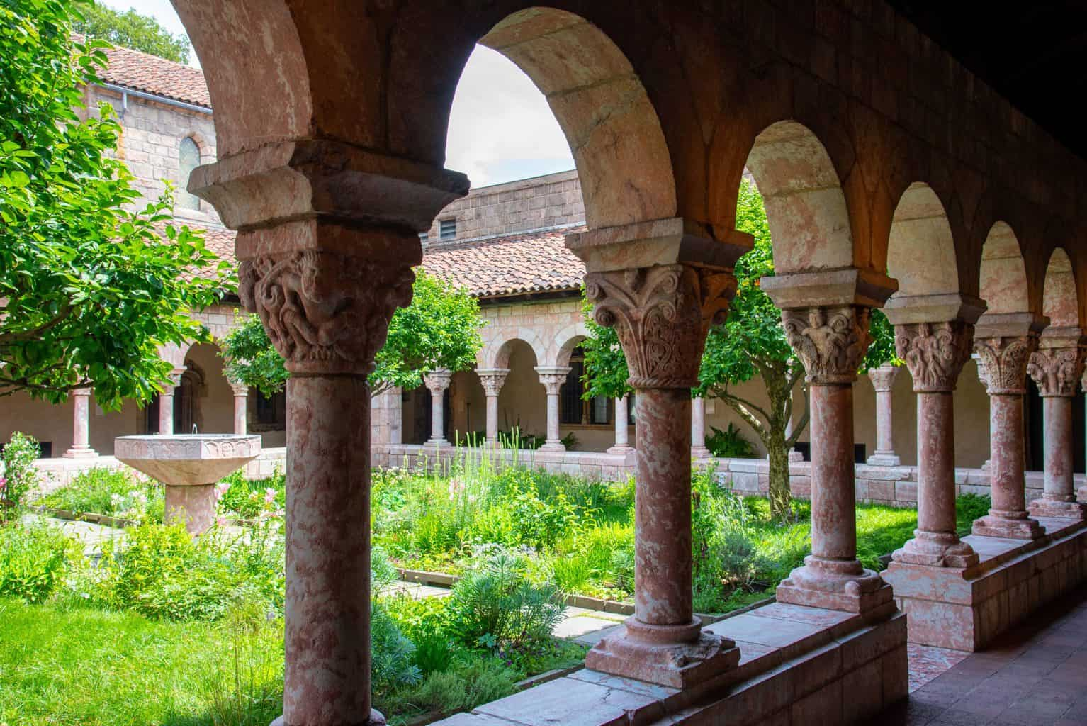 Cloister with areches and columns in NYC