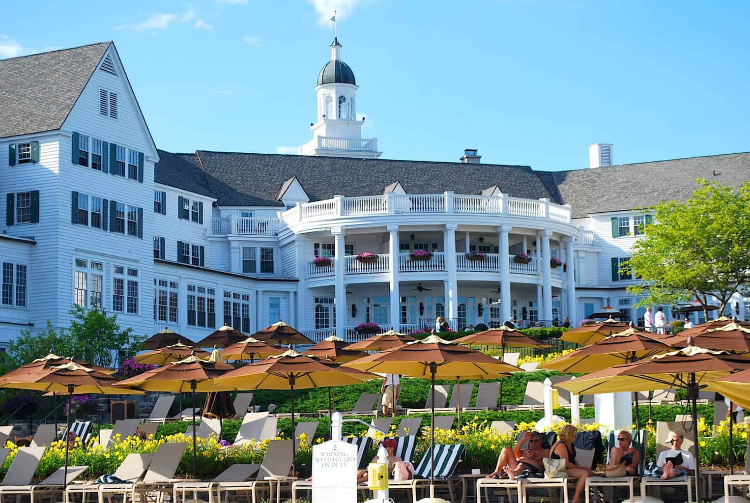 The beautiful Sagamore Resort in Lake George, one of the most haunted hotels in New York.
