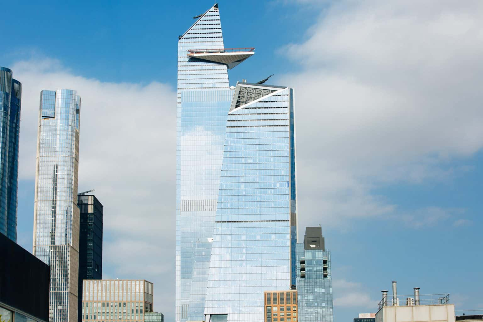 A view of The Edge Observation Deck in New York City's Hudson Yards.