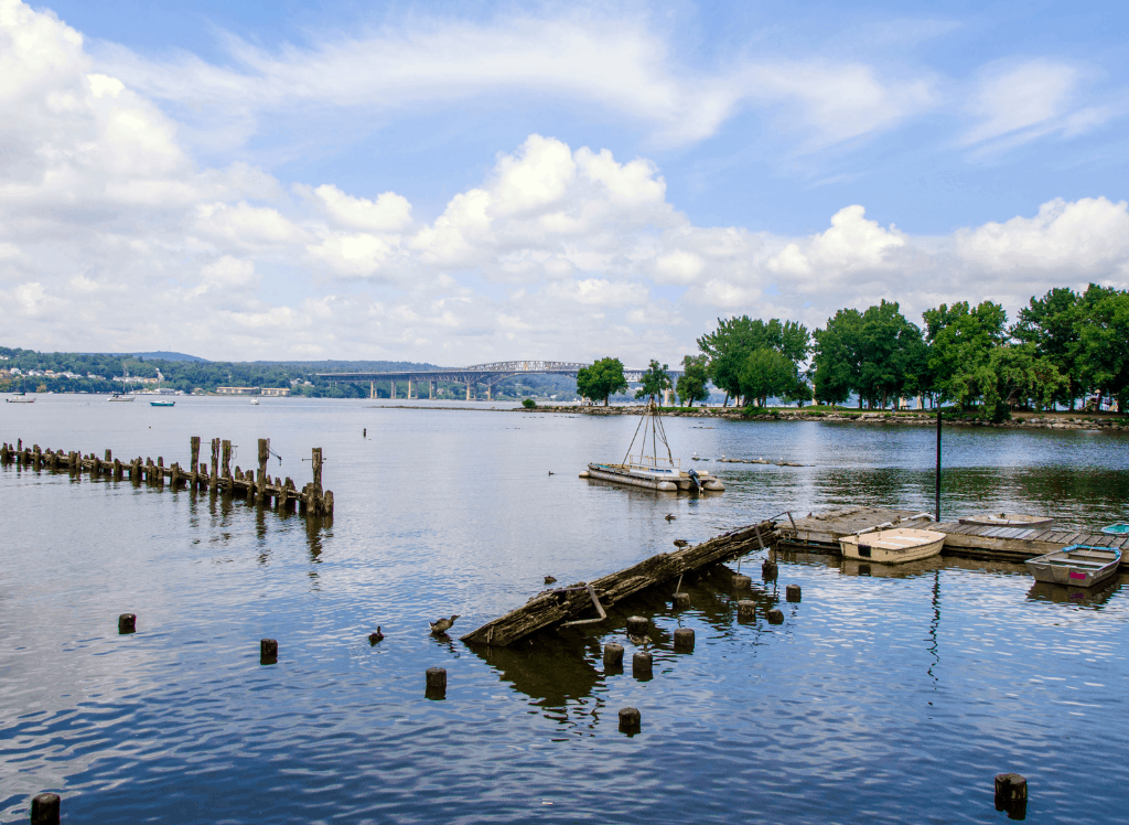 A beautiful view of the Hudson River in Beacon, NY.