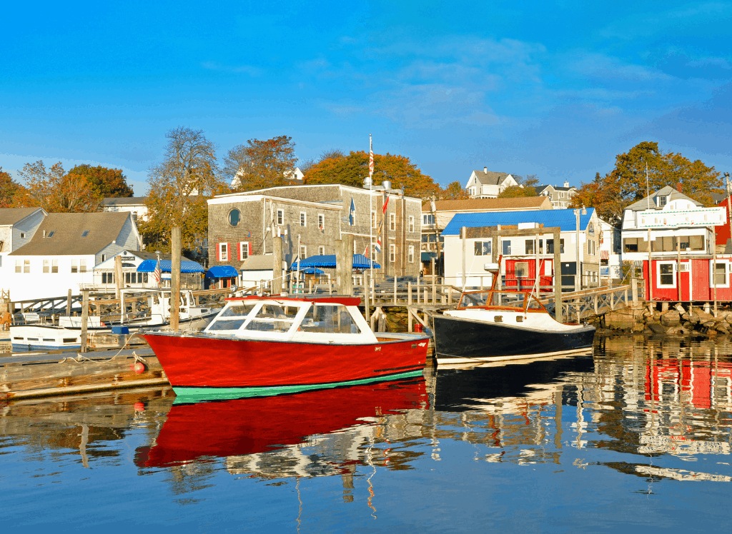 Some of the scenic fishing villages you'll find in Boothbay Harbor, Maine.