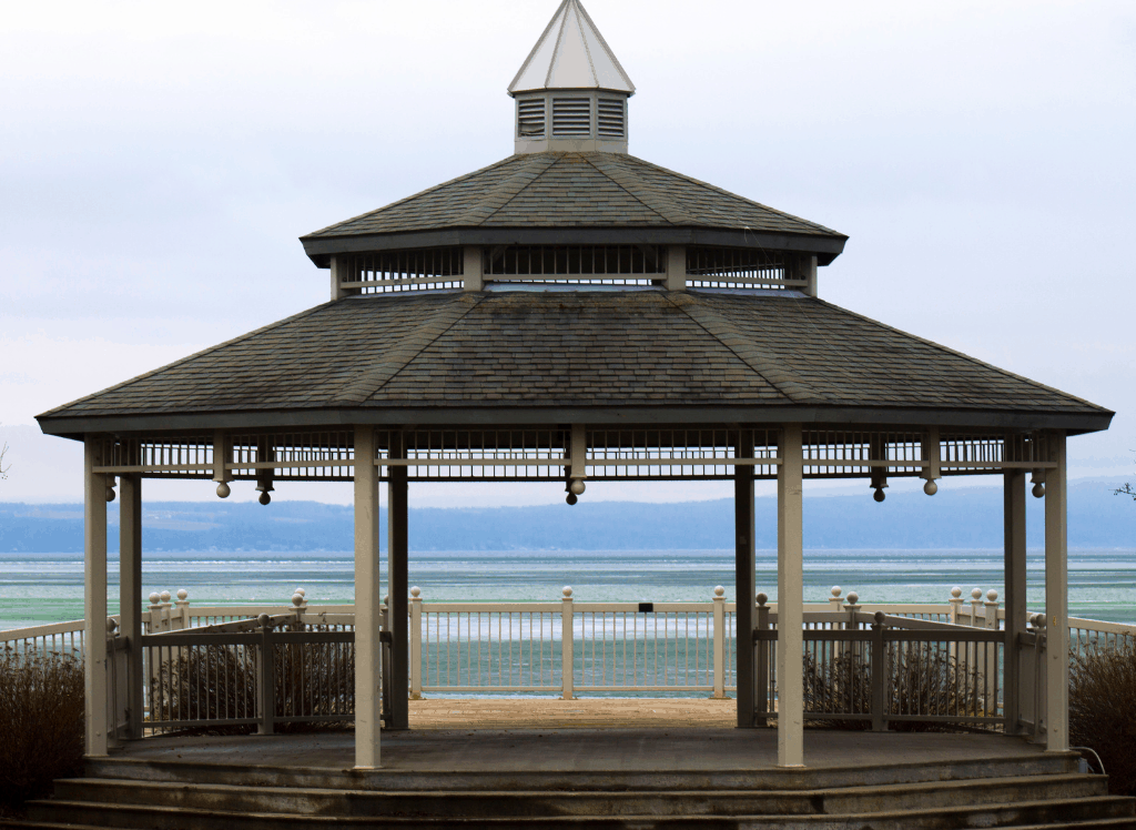 A beautiful gazebo on Lake Canandaigua in Canandaigua, NY.