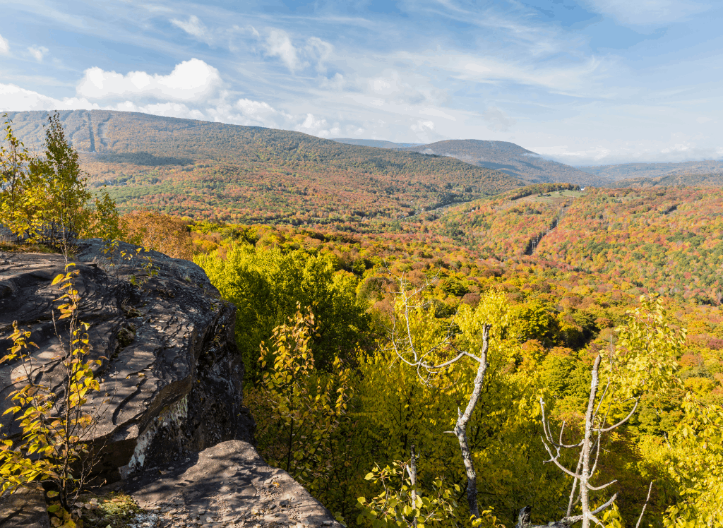 The rugged natural beauty of the Appalachian mountains in the Catskills, New York.