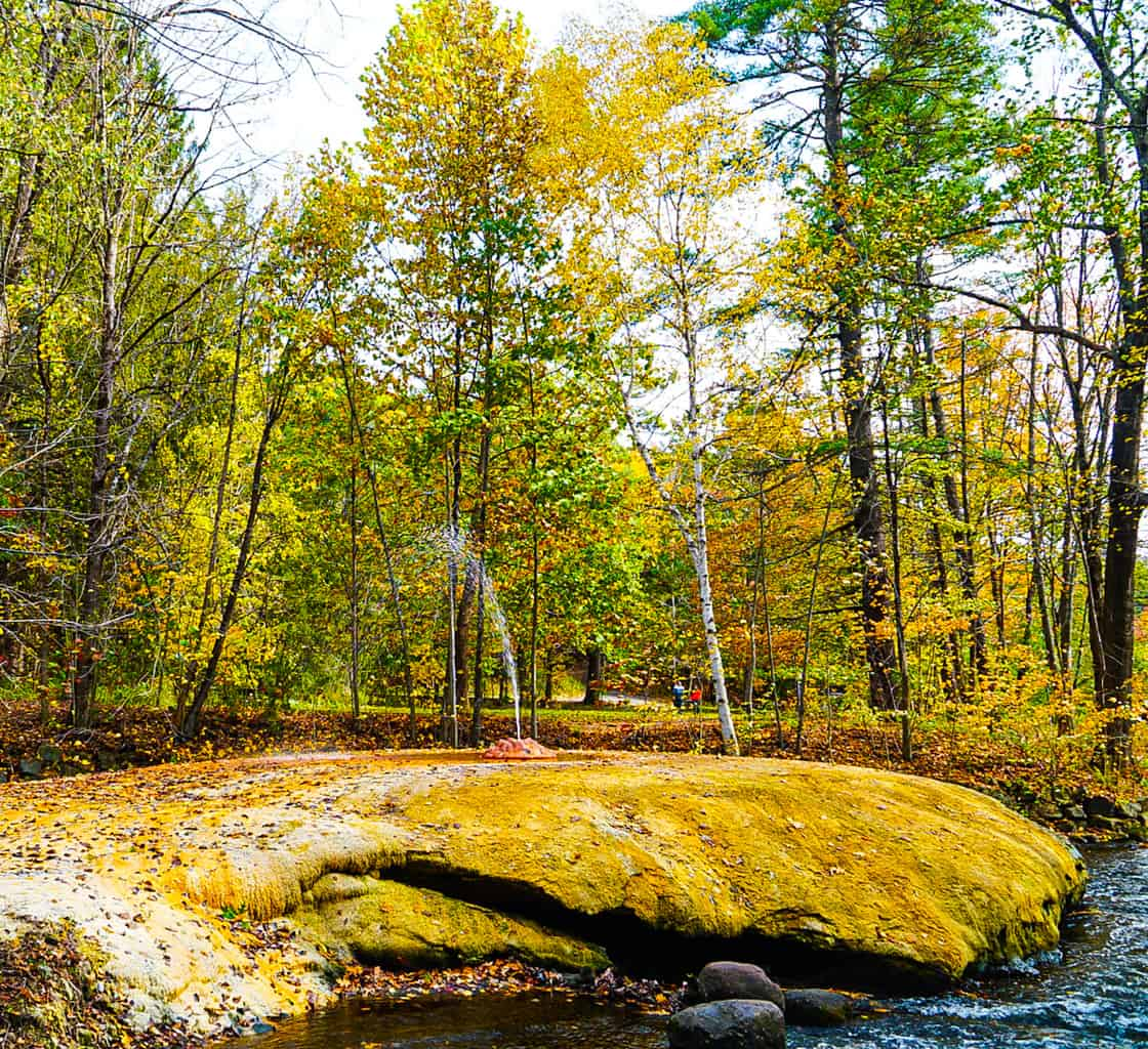 The Geyser Island Spouter in Saratoga Spa State Park.