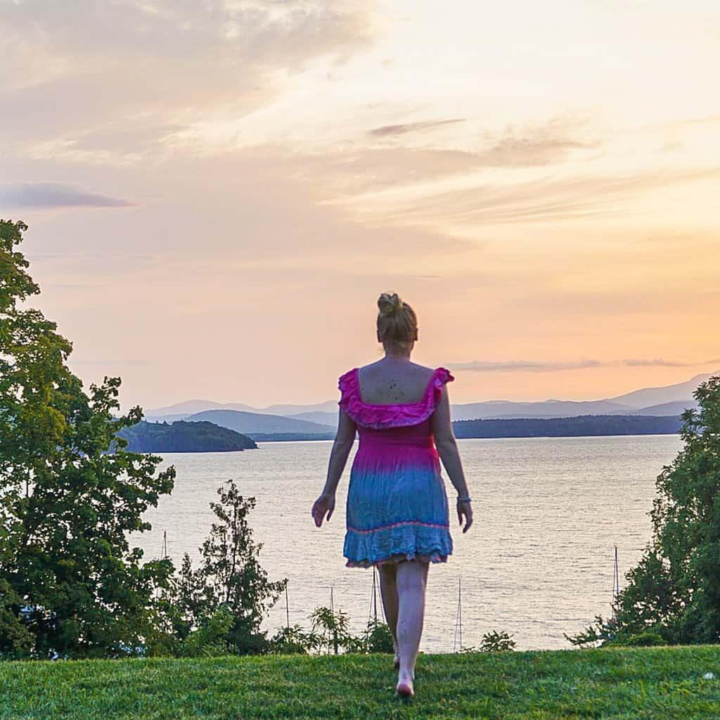 Me enjoying the sunrise on Lake Champlain in NY.