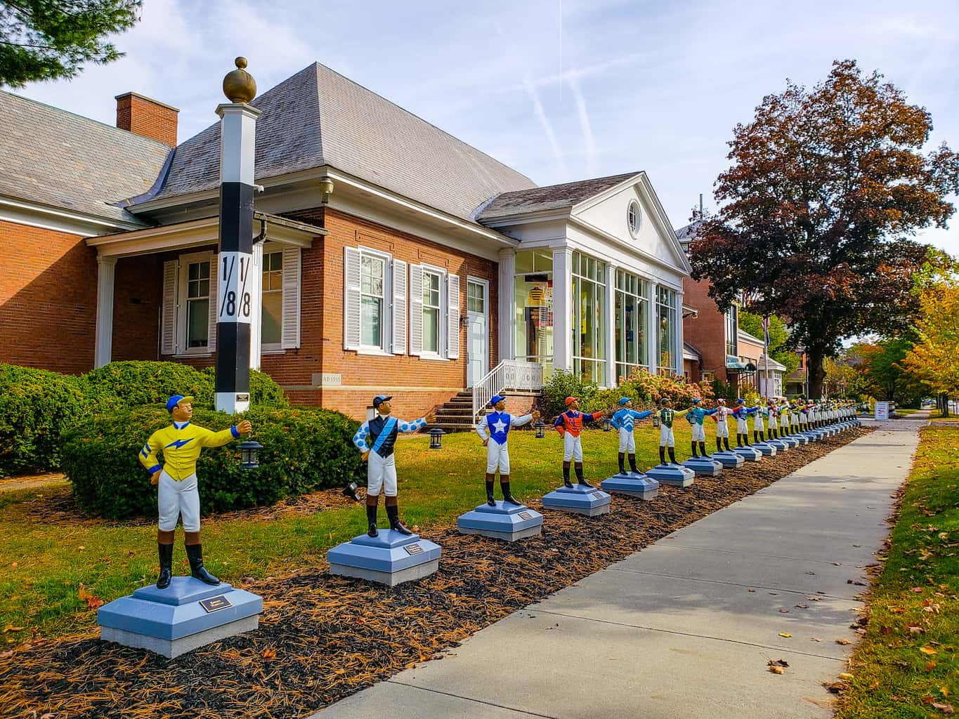 The exterior of the National Museum of Racing and Hall of Fame in Saratoga Springs, NY.