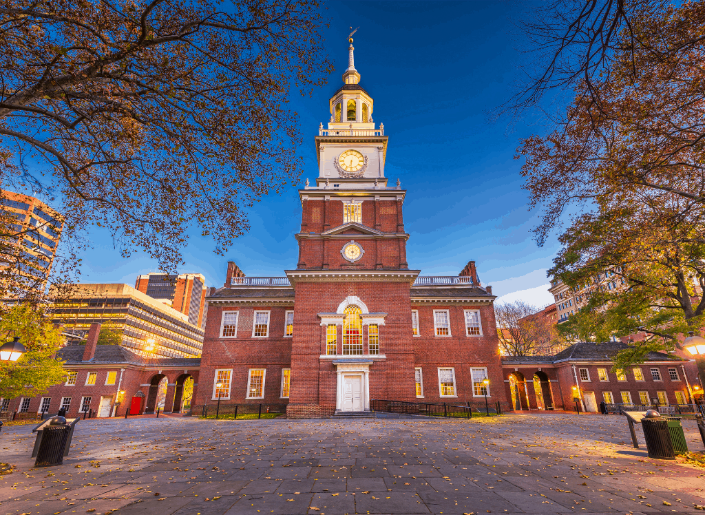 Independence Hall in Philadelphia, PA.
