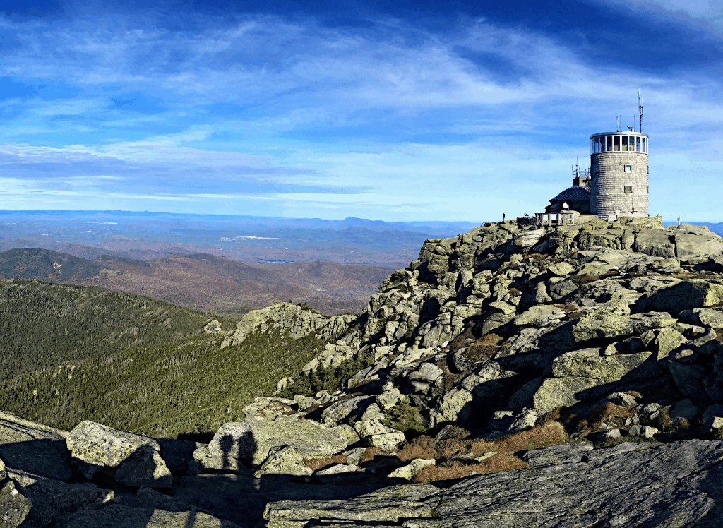The sweeping mountain views that abound atop Whiteface Mountain, which is a short drive away from Wilmington, NY.