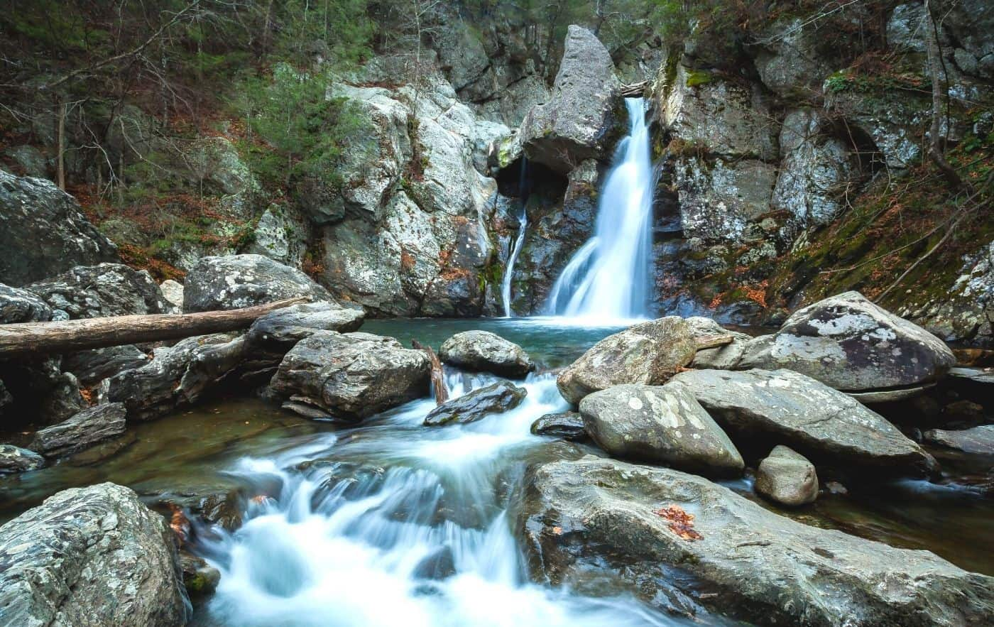Bash Bish Falls, one of the best waterfalls in New York.