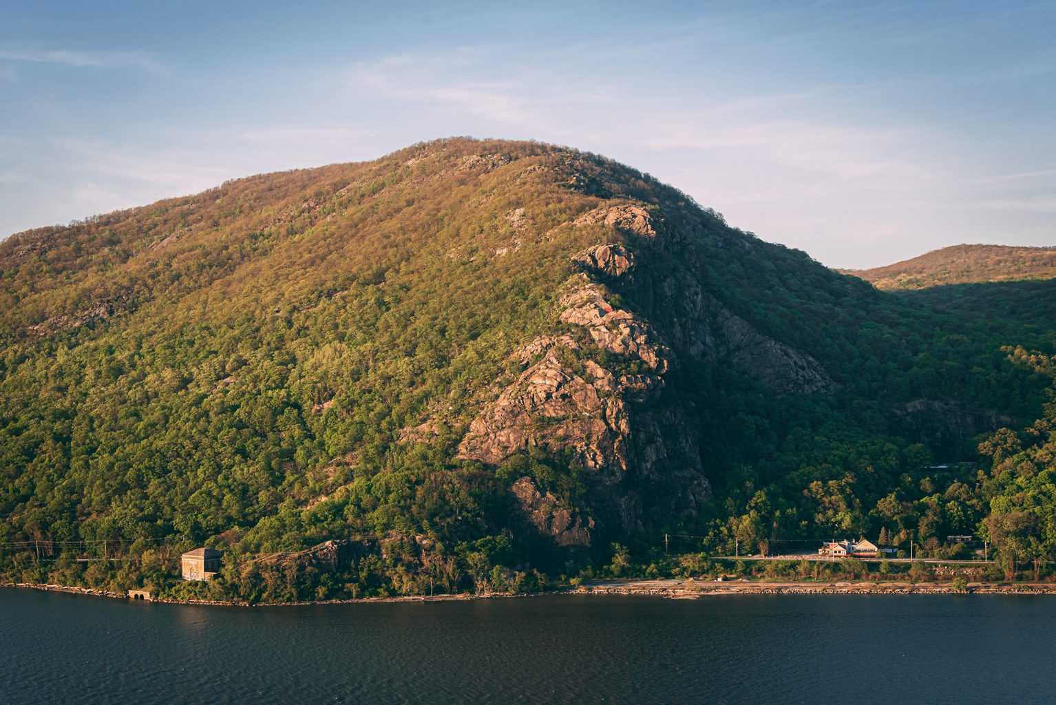 View of Breakneck Ridge from Storm King Mountain, one of the best hikes in upstate New York.