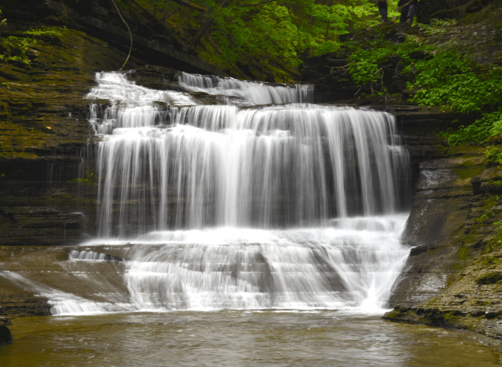 The beautiful Buttermilk Falls just outside of Ithaca, NY.