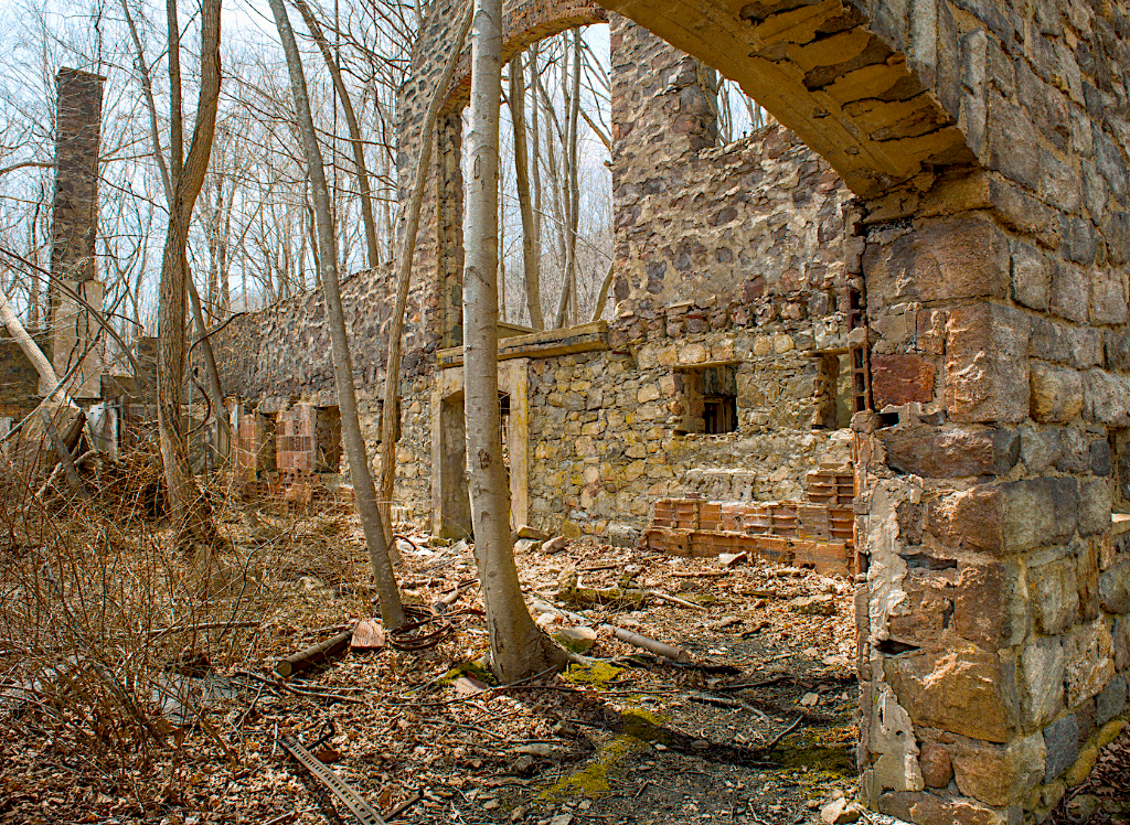 Abandoned ruins you'll find along the Cornish Estate Trail in Cold Spring, NY.