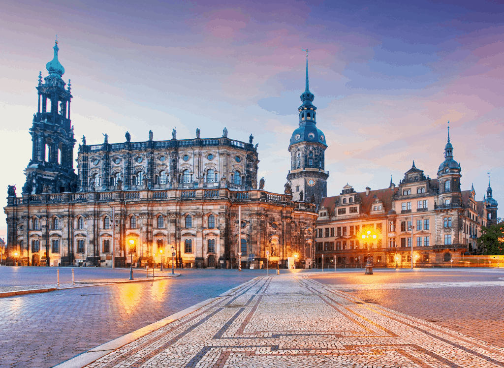 A beautiful cathedral in Dresden, Germany,